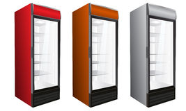 Commercial refrigerator for drinks and perishables. Vector illustration. Stock Image