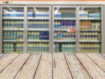 Commercial refrigerators in a large supermarket Royalty Free Stock Photography