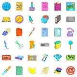 Commercial relation icons set, cartoon style. Commercial relation icons set. Cartoon set of 36 commercial relation vector icons for web isolated on white Royalty Free Stock Images