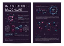 Commercial report with various infographics. Abstract data visualization, business analytics, financial graph, stock index cartogram vector illustration vector illustration