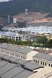 Commercial and Residential Bui. Rows of Residential and Commercial Buildings Stock Image