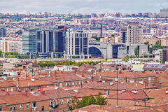 Commercial and residential sectors in Madrid Royalty Free Stock Photography