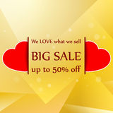 Commercial sale discount announce. Clip-art Royalty Free Stock Photography