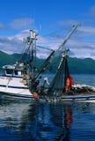 Commercial Salmon Fishing. Boat off the coast of Kodiak island Royalty Free Stock Images