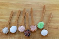 Commercial salt and natural rock salt Stock Images
