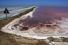 Commercial Salt Pans Stock Photography