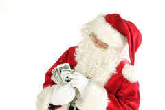 Commercial santa claus Royalty Free Stock Image