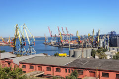 Commercial Sea Port in Odessa Royalty Free Stock Images