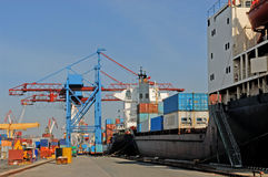 Commercial    seaport Royalty Free Stock Photo