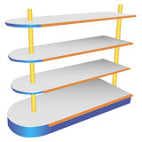 Commercial shelving Royalty Free Stock Photo