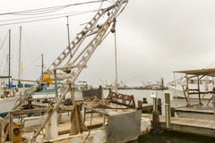 Commercial shrimp boats at dock Stock Photo