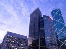 Commercial Skyscrapers. Commercial skyscraper in Hong Kong financial district Stock Photo