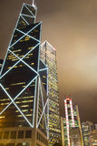 Commercial Skyscrapers. Of Hong Kong financial district Stock Images