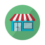 Commercial sore. Commercial store design, vector illustration eps10 graphic Royalty Free Stock Photography
