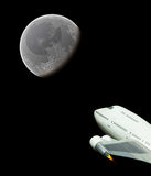 Commercial space flight to the moon Royalty Free Stock Images