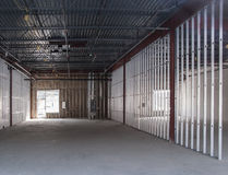 Commercial space under construction. New commercial space under construction Stock Images