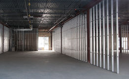 Commercial space under construction. New commercial space under construction Royalty Free Stock Photography