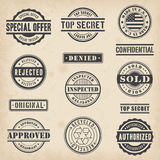 Commercial Stamps. Collection of 13 Hi detail commercial stamps Royalty Free Stock Photos