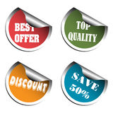 Commercial Stickers Royalty Free Stock Image