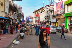 Commercial street in Bangalore Stock Photos