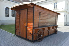 A commercial street carriage. Royalty Free Stock Images