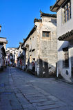Commercial Street in Hong Village. Hong Village located in southern anhui province, china.2014.12.2 Stock Photos