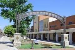 Commercial Street Mall-Atchison, Kansas. View of the Commercial Street Mall area of downtown Atchison, Kansas Royalty Free Stock Image