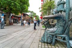 Commercial Street in the Old Town, Fuzhou, China stock photos