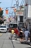 Commercial Street in Provincetown, Cape Cod in Massachusetts Stock Images