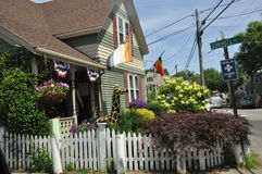 Commercial Street in Provincetown, Cape Cod in Massachusetts Stock Photos