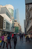 Commercial Street in Tianjin Royalty Free Stock Photos