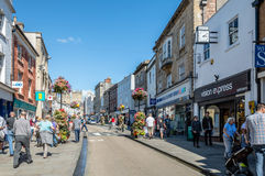Commercial street in Wells Stock Images