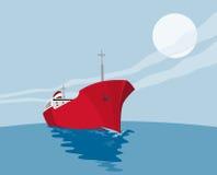 Commercial Tanker. Vector art of a commercial tanker stock illustration