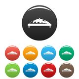 Commercial tent icons set color stock illustration