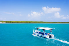 Commercial tourist vessel sailing in Great Barrier Royalty Free Stock Photography
