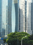 Commercial Towers in Financial Area Royalty Free Stock Images