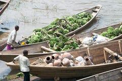 Commercial traffic along the lake Kivu royalty free stock image