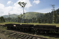 Commercial train wagon. Ella, Sri Lanka. Commercial train open wagon standing in the tea plantations of Ella . Sri Lanka royalty free stock photos