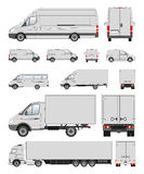 Commercial transport collection in contour royalty free stock photos