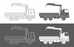 Commercial truck crane icon Stock Image