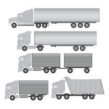 Commercial truck. And trailer icons Royalty Free Stock Images