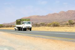 Commercial cargo truck transport, Namibia Stock Images