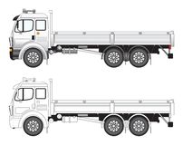 Commercial truck vector illust. Side view of a commercial truck vector illlustration vector illustration