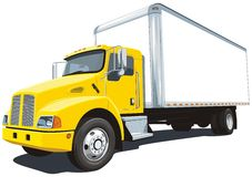 Commercial truck stock photo