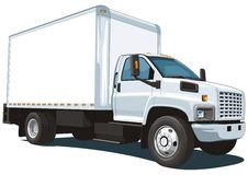 Commercial truck royalty free stock photography