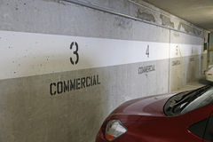 Commercial underground parking Royalty Free Stock Photo