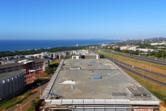 Commercial Urban Coastal Landscape Against Blue Durban City Skyl Royalty Free Stock Images