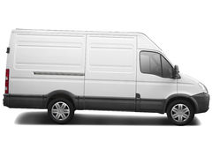 Commercial van. Delivery van isolated on white, clipping path included Stock Photos