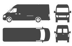 Commercial van bus silhouette vector icon Royalty Free Stock Photos
