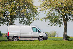 Commercial van in the countryside Stock Image